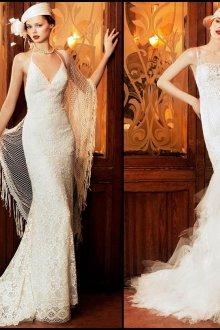 Элегантные свадебные винтажные платья