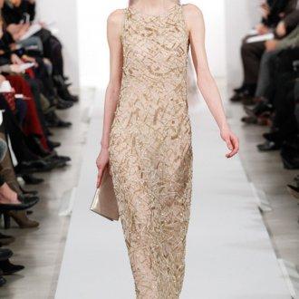 Модное бежевое платье в ретро стиле