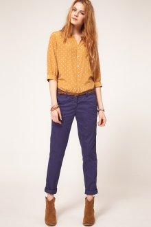 Фиолетовые женские брюки чинос