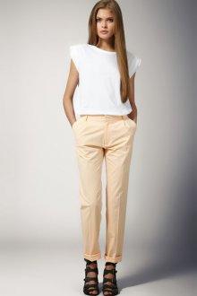 Светло-бежевые женские брюки чинос