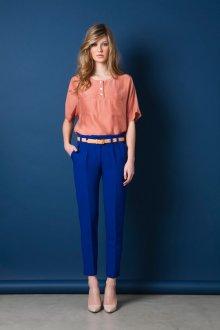 Деловые синие женские брюки чинос