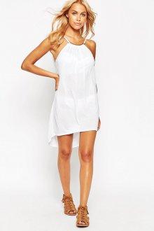 Белое элегантное платье в пол