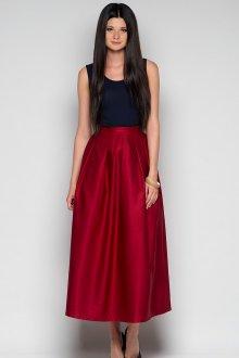 Красная длинная юбка