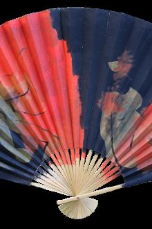 Красно-синий японский веер