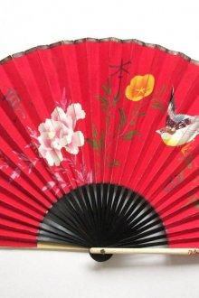 Красный стильный японский веер