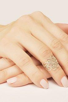 Ажурное кольцо на фалангу пальца